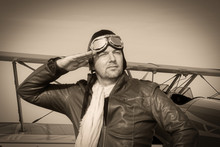 Portrait Of A Vintage Pilot ...