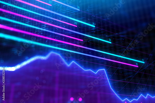 Fotografía  Abstract forex chart background