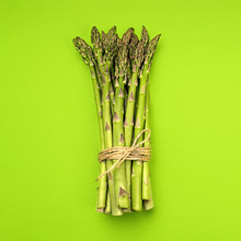 Food Background Asparagus Flat...