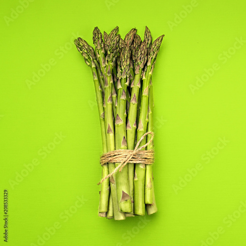 Valokuvatapetti Food background asparagus flat lay pattern