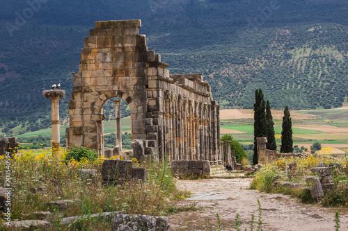 Keuken foto achterwand Marokko Volubilis is a ruined Amazigh, then Roman city in Morocco near Mekne