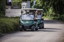 Golf Carts Parked Near The Res...
