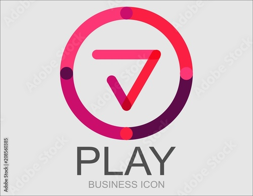 Logotipo play avanzar Canvas Print