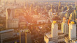 Bangkok city central business downtown aerial view, cityscape background