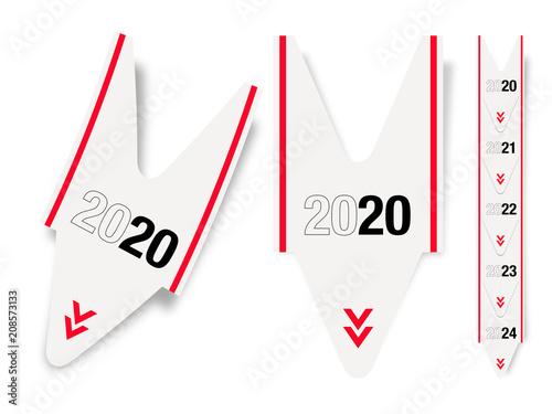 Poster  Tickets de queue 2020 / 2020 queue ticket