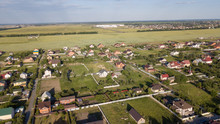 Aerial View Over Private Cottage