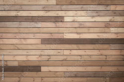 Wallpaper Mural toned wood planks background or texture
