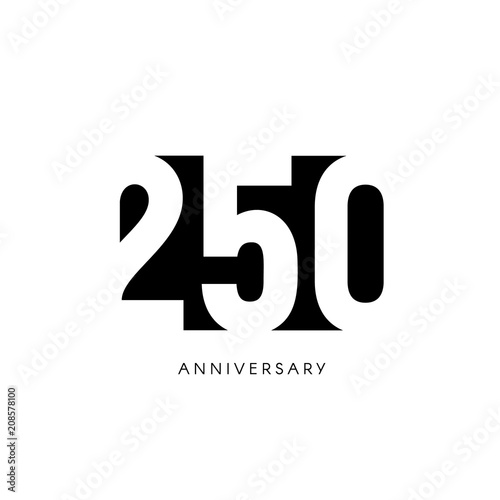 Fotografia  Two hundred fifty anniversary, minimalistic logo