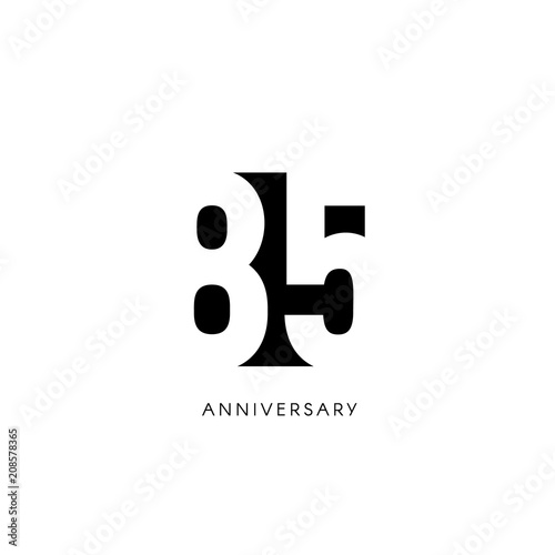 Tela  Eighty five anniversary, minimalistic logo