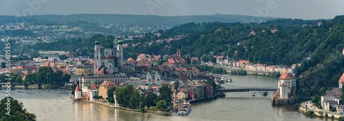 Fotografia Dreiflüssestadt Passau Panorama