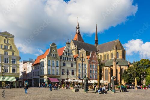 Fotografía Blick über den Neuen Markt in Rostock