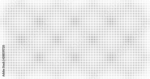 Cuadros en Lienzo  Halftone dots pattern, light overlay background texture in black and white, scre