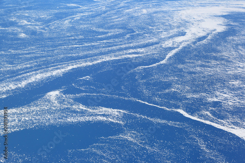 Photo  Aerial view of floating sea ice caught in marine currents off the eastern coast of Canada