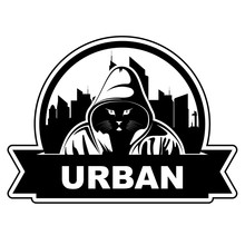 Logo With City Skyline And Cat...