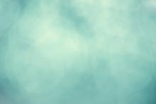 Aqua Mint Green Bokeh Background