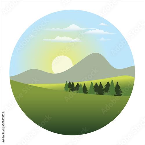Fotobehang Wit landscape