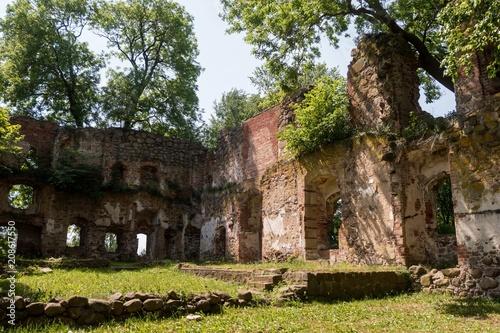 Foto op Aluminium Rudnes Schloss Putzar - Ulrichsbau - Ruine - Innenansicht