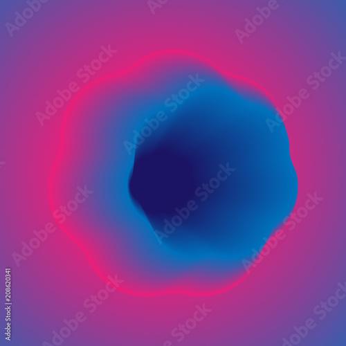 Láminas  Vibrant Gradient Blur Neon Abstract Background. Vector.