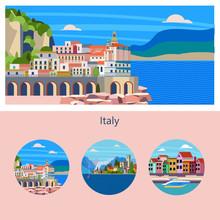 Amalfi. Seaside Town In Italy....