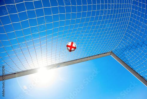 Fotografie, Obraz  Fussball mit englischer Flagge