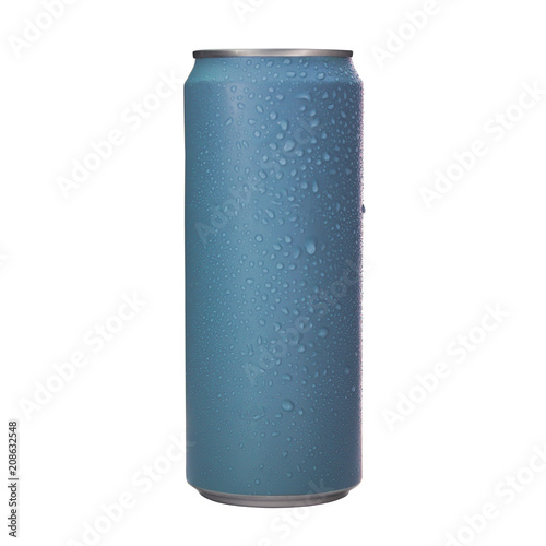 Aluminum soda cans isolated background