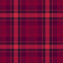 Tartan Seamless Pattern. Red And Purple Plaid. Tartan Flannel Background. Trendy Tiles Illustration For Wallpapers