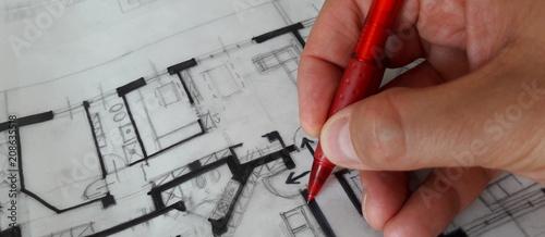 Progettare a mano libera - Architetto Wallpaper Mural