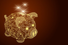 Abstract Polygonal Piggy Bank....