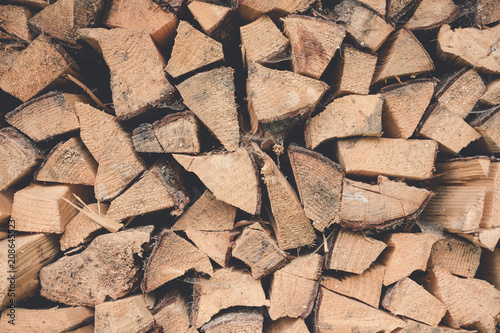 In de dag Brandhout textuur wood background texture logs firewood