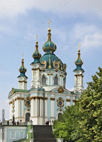 Foto op Plexiglas Kiev Church of St. Andrew in Kiev. Ukraine