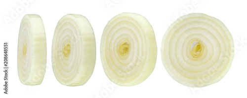 Cuadros en Lienzo Sliced onion isolated on white background