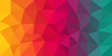 Colorful Low Poly Vector Backg...