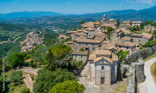 Panoramic view in Arpino, ancient town in the province of Frosinone, Lazio, central Italy Canvas Print