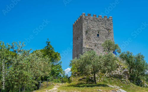 Cicero's Tower in Arpino, ancient town in the province of Frosinone, Lazio, central Italy Canvas Print