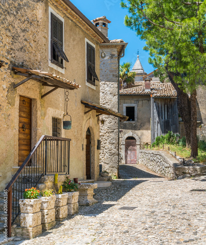 Scenic sight in Arpino, ancient town in the province of Frosinone, Lazio, central Italy Canvas Print