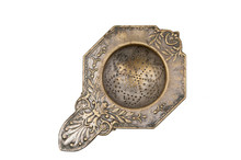 Vintage Brass Tea Strainer Iso...