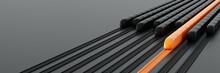 High Speed Rail Transport Concept, Original 3d Rendering