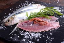 Plate With Sardines Cherry Tom...