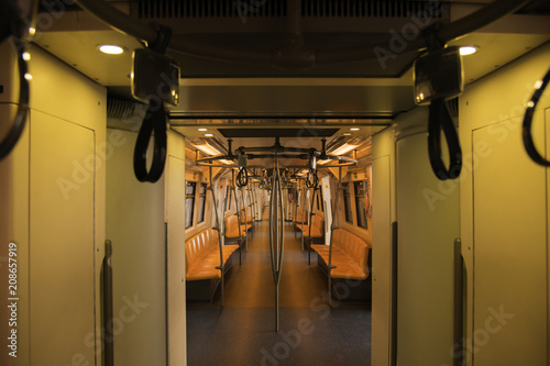 Fotografie, Obraz  Corridors and cabins within the bts sky train to travel in Bangkok Thailand