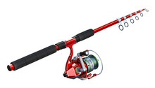 Fishing Rod With Spinning, 3D ...