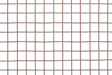 Rusty Steel Mesh Isolated On W...
