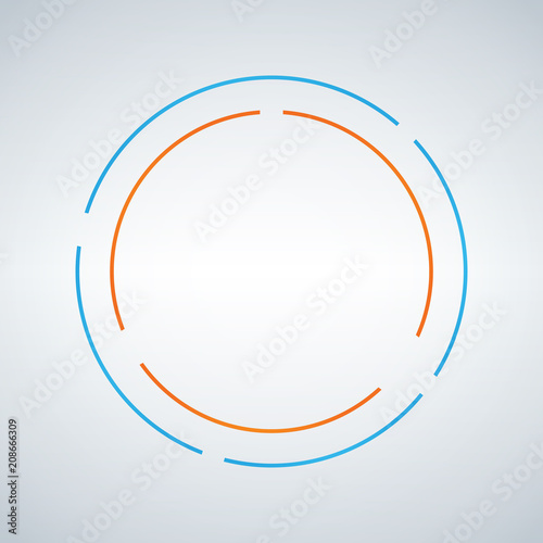 two circe abstract vector design double circle shape emblem identity icon blue and orange symbol element isolated white background buy this stock vector and explore similar vectors at adobe stock orange symbol element isolated white