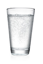 Glass Of Water Isolated