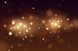 Abstract defocused circular golden bokeh lights background. Magic christmas background. EPS 10