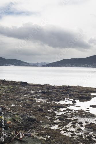 Fotobehang Kust Estuary Ria de Vigo in Galicia (Spain)