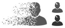 Gray Vector Patient Icon In Di...