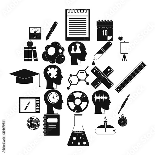 Investigation icons set  Simple set of 25 investigation vector icons