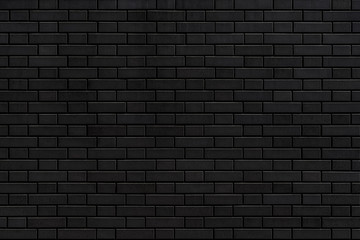 Black stone brick texture and background