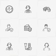 Insurance line icon set with car accident insurance, real estate insurance and call center