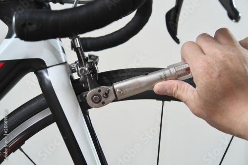 Foto op Plexiglas Fiets ロードバイク 整備